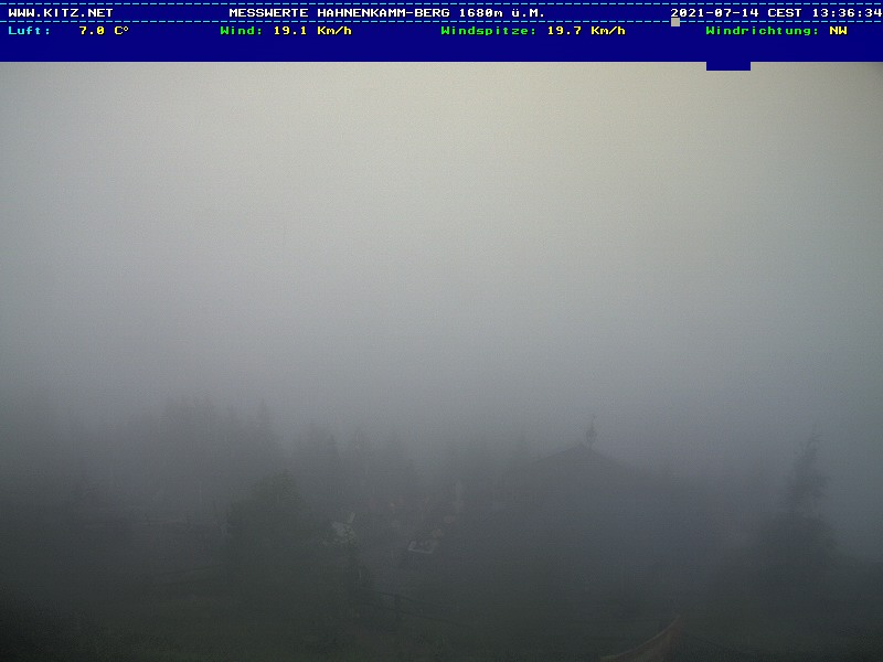 WEBkamera Kitzbühel - Hahnenkamm, pohled na Wilden Kaiser